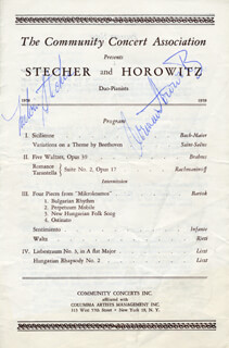 Autographs: MELVIN STECHER - PROGRAM SIGNED CO-SIGNED BY: NORMAN HOROWITZ