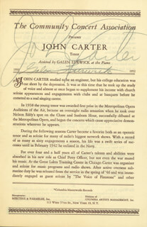 JOHN CARTER - PROGRAM SIGNED CO-SIGNED BY: GALEN LURWICK
