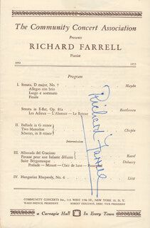 RICHARD FARRELL - PROGRAM SIGNED