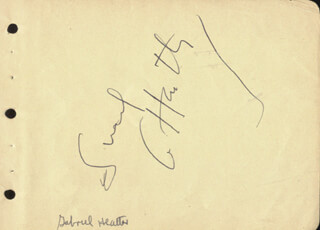 GABRIEL HEATTER - AUTOGRAPH CO-SIGNED BY: MARY (MRS. JACK BENNY) LIVINGSTONE