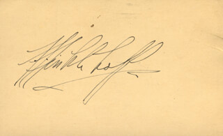 FRED F. FINKLEHOFFE - AUTOGRAPH