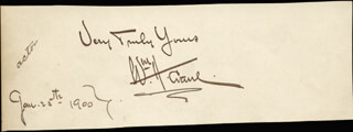 WILLIAM H. CRANE - AUTOGRAPH SENTIMENT SIGNED CIRCA 1900 CO-SIGNED BY: ORVILLE H. PLATT, ASSOCIATE JUSTICE LOUIS E. MCCOMAS