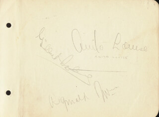 ANITA LOUISE - AUTOGRAPH CO-SIGNED BY: GILBERT ROLAND, JACK P. TIDBALL
