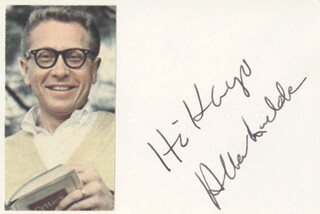 ALLEN LUDDEN - INSCRIBED CARD SIGNED