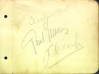 PAUL LUKAS - AUTOGRAPH CO-SIGNED BY: CRAUFORD KENT, J. CARROL NAISH