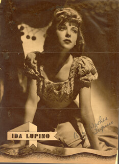 IDA LUPINO - MAGAZINE PHOTOGRAPH SIGNED