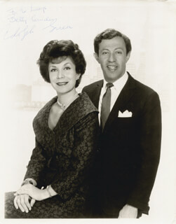 ADOLPH GREEN - AUTOGRAPHED INSCRIBED PHOTOGRAPH CO-SIGNED BY: BETTY COMDEN