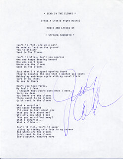 JUDY COLLINS - TYPED LYRIC(S) SIGNED