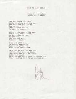 ANDY WILLIAMS - TYPED LYRIC(S) SIGNED