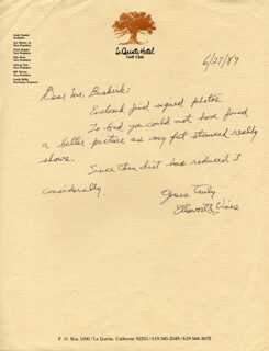 ELLSWORTH VINES - AUTOGRAPH LETTER SIGNED 06/27/1989