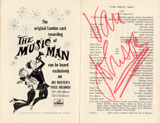 VAN JOHNSON - PROGRAM SIGNED