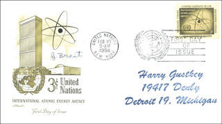 GREGORY BREIT - FIRST DAY COVER SIGNED
