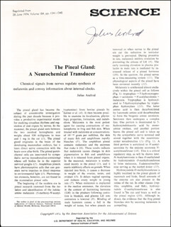 JULIUS AXELROD - ARTICLE SIGNED