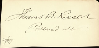 THOMAS B. REED - AUTOGRAPH 02/04/1899 CO-SIGNED BY: SERENO E. PAYNE