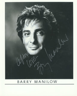 BARRY MANILOW - AUTOGRAPHED INSCRIBED PHOTOGRAPH
