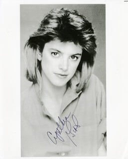 CYNTHIA GIBB - AUTOGRAPHED SIGNED PHOTOGRAPH