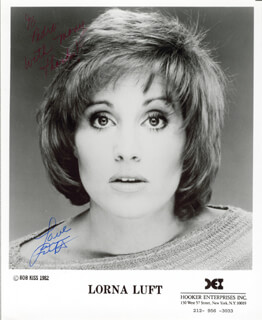 LORNA LUFT - AUTOGRAPHED INSCRIBED PHOTOGRAPH