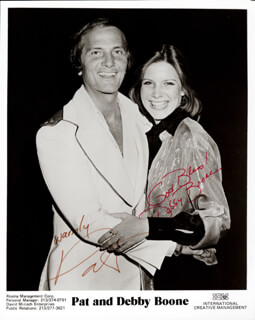 PAT BOONE - AUTOGRAPHED SIGNED PHOTOGRAPH CO-SIGNED BY: DEBBY BOONE