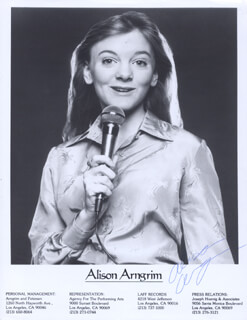 ALISON ARNGRIM - PRINTED PHOTOGRAPH SIGNED IN INK