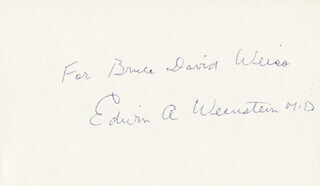 EDWIN A. WEINSTEIN - INSCRIBED SIGNATURE
