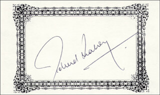 RICHARD E. LEAKEY - PRINTED CARD SIGNED IN INK
