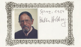Autographs: DR. WALTER M. HOHLWEG - PRINTED CARD SIGNED IN INK 1984