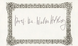 DR. WALTER M. HOHLWEG - PRINTED CARD SIGNED IN INK