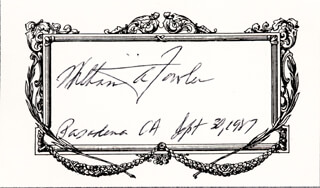 Autographs: WILLIAM A. FOWLER - SIGNATURE(S) 09/30/1987