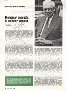 PAUL J. FLORY - MAGAZINE ARTICLE SIGNED