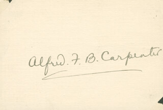Autographs: VICE ADMIRAL ALFRED F. B. CARPENTER - SIGNATURE(S)