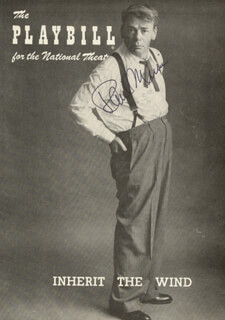 PAUL MUNI - SHOW BILL COVER SIGNED