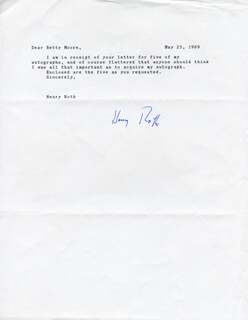 HENRY ROTH - TYPED LETTER SIGNED 05/23/1989