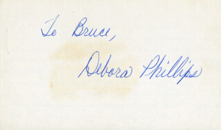 DEBORA PHILLIPS - INSCRIBED SIGNATURE