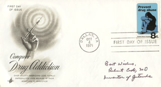 Autographs: ROBERT CADE - FIRST DAY COVER WITH AUTOGRAPH SENTIMENT SIGNED