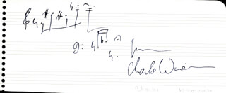 CHARLES P. WUORINEN - AUTOGRAPH MUSICAL QUOTATION SIGNED