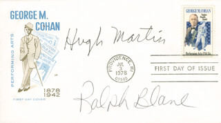 HUGH MARTIN - FIRST DAY COVER SIGNED CO-SIGNED BY: RALPH BLANE