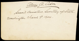 BENJAMIN F. TRACY - SIGNATURE(S) 03/09/1900 CO-SIGNED BY: ALVEY A. ADEE
