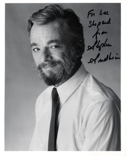 STEPHEN J. SONDHEIM - AUTOGRAPHED INSCRIBED PHOTOGRAPH
