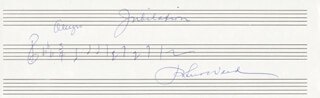 ROBERT WARD - AUTOGRAPH MUSICAL QUOTATION SIGNED