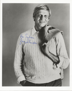 GEORGE PLIMPTON - AUTOGRAPHED INSCRIBED PHOTOGRAPH