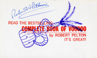 ROBERT W. PELTON - PRINTED CARD SIGNED IN INK
