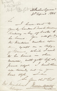 SIR THEODORE MARTIN - AUTOGRAPH LETTER SIGNED 04/30/1865
