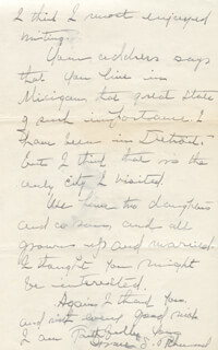 GRACE S. RICHMOND - AUTOGRAPH LETTER SIGNED 04/15/1938