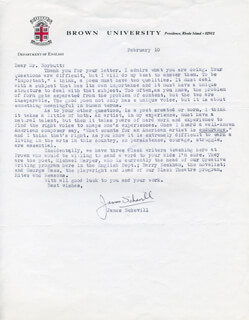 JAMES SCHEVILL - TYPED LETTER SIGNED 2/10
