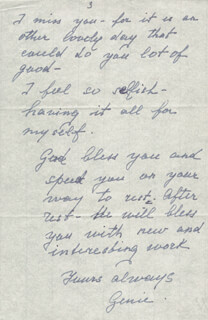 EUGENIE LEONTOVICH - AUTOGRAPH LETTER SIGNED 11/26/1947