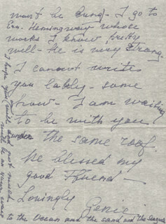 EUGENIE LEONTOVICH - AUTOGRAPH LETTER SIGNED 12/02/1947