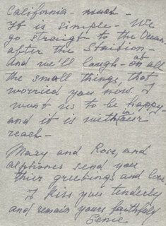 EUGENIE LEONTOVICH - AUTOGRAPH LETTER SIGNED 12/06/1947