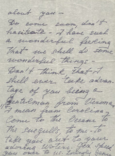 EUGENIE LEONTOVICH - AUTOGRAPH LETTER DOUBLE SIGNED 12/03/1947