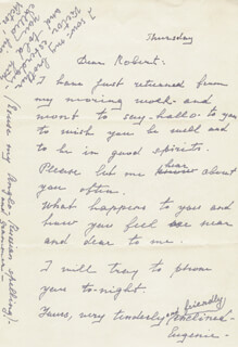 EUGENIE LEONTOVICH - AUTOGRAPH LETTER SIGNED