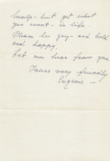 EUGENIE LEONTOVICH - AUTOGRAPH LETTER SIGNED 10/25/1947